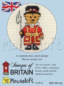 Mouseloft Beefeater Teddy Images of Britain cross stitch kit